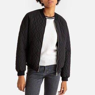 La Redoute Collections Quilted Padded Bomber Jacket with Pockets
