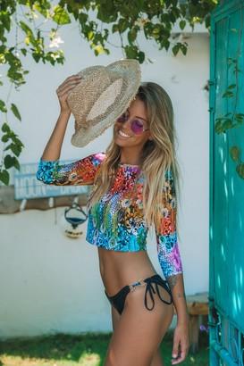 Linzi Mavele Swimwear Tribal Instict Rash Vest