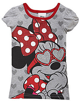 Disney 2T-6X Minnie Mouse Puff-Sleeve Tee