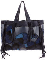 Valentino Fringe Patchwork Tote