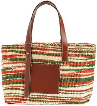 Loewe Sisal & Leather Tote Bag