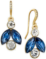 Charter Club Gold-Tone Blue and Clear Crystal Drop Earrings, Only at Macy's