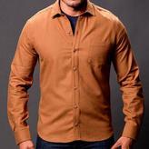 Blade + Blue Solid Camel Brushed Cotton Shirt - Bryan