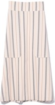 See by Chloe Stripe Midi Skirt in Natural White