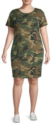 Sanctuary Camouflage-Print Cotton-Blend T-Shirt Dress