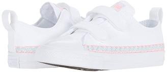 Converse Chuck Taylor(r) All Star(r) Friendship Bracelet 2V - Ox (Infant/Toddler) (White/Moonstone Violet/White) Girl's Shoes