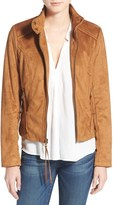 French Connection Women's Fringe Faux Suede Jacket