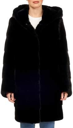 Gorski Reversible Horizontal-Quilted Mink-Fur Stroller Coat