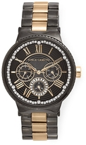 Vince Camuto Two-Tone Crystal-Accented Watch