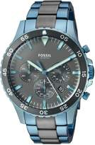 Fossil Men's CH3097 Crew master Sport Chronograph Two-Tone Stainless Steel Watch