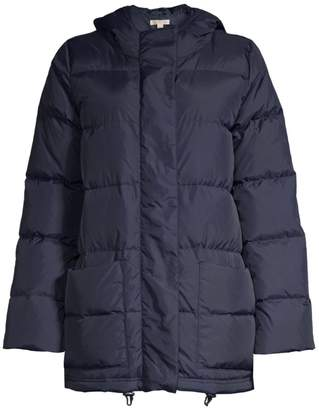 Eileen Fisher High Collar Recycled Nylon Puffer Coat