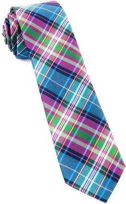 Tie Bar West Village Plaid Fuchsia Tie