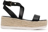 Thumbnail for your product : MICHAEL Michael Kors Lowry platform wedge espadrille sandals