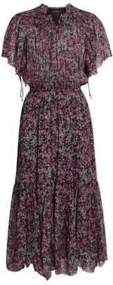 Isabel Marant Silk Floral Odelia Midi Dress