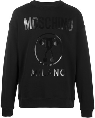Moschino question mark Milano logo sweatshirt