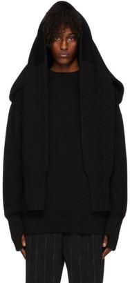 Balenciaga Black Wool Double Fit Sweater