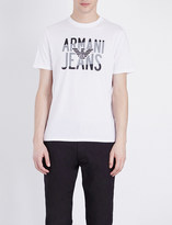 Armani Jeans Eagle-logo cotton-jersey t-shirt