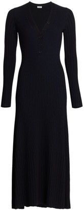 Akris Punto Ribbed Midi Dress