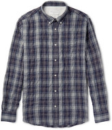 Officine Generale Slim-Fit Plaid Cotton-Blend Shirt