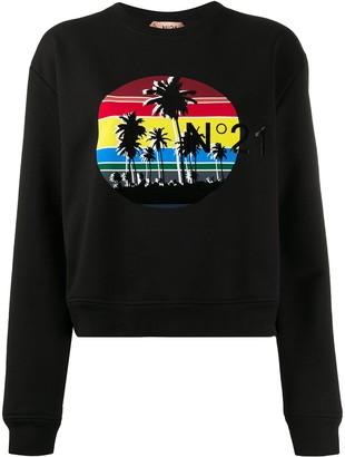 No.21 graphic print jumper