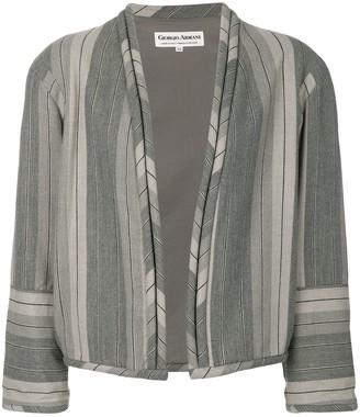 Giorgio Armani Pre-Owned striped collarless jacket