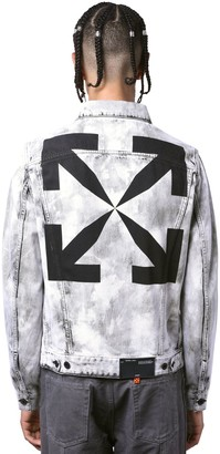 Off-White Print Arrows Slim Cotton Denim Jacket