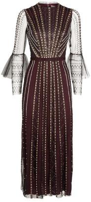 Temperley London Queenie Embellished Midi Dress