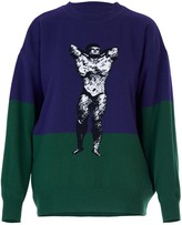 Acephala Bodybuilder Jumper Purple & Green