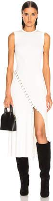 Alexander McQueen Slit Dress in Ivory & Silver   FWRD