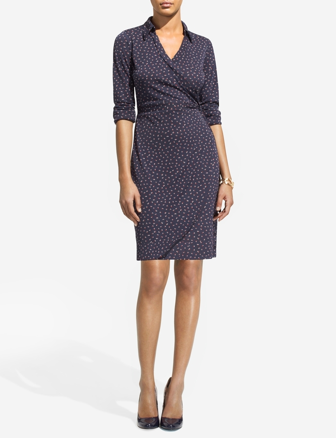 The Limited Faux-Wrap Matte Jersey Dress