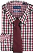 Nick Graham Men's Nick Dunn Modern-Fit Patterned Easy-Care Spread-Collar Dress Shirt & Tie Set