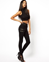 Asos Tube Pants with 90s Buckle Detail