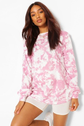 boohoo Maternity Tie Dye Sweat Top