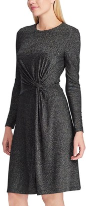 Chaps Women's Long Sleeve Fit And Flare Dress