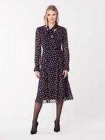 Diane von Furstenberg Aleka Devore Necktie Dress