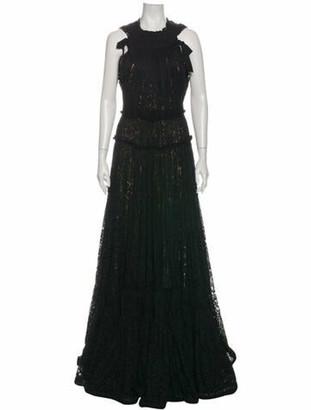 Lanvin 2015 Long Dress Black