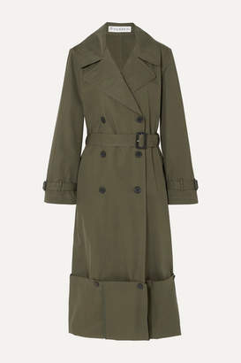 J.W.Anderson Button-detailed Cotton-twill Trench Coat - Green