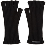 John Lawrence Sullivan Johnlawrencesullivan Black Wool Fingerless Gloves