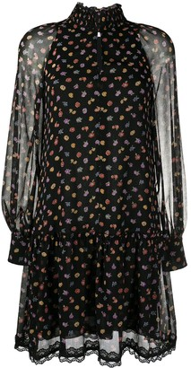 See by Chloe Floral Print Long-Sleeve Dress