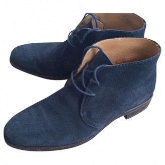 Russell & Bromley Navy Suede Ankle boots
