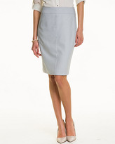 Le Château Crosshatch High Waist Pencil Skirt