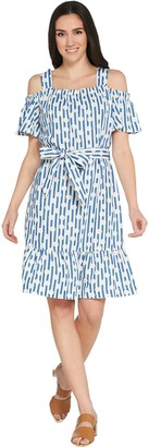 Isaac Mizrahi Live! TRUE DENIM Stripe & Dot Dress