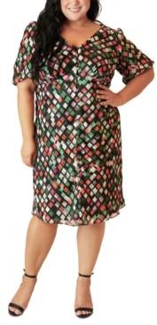 Marée Pour Toi Size Split-Front Peasant Dress