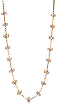 Melinda Maria Elizabeth Double CZ Frontal Necklace