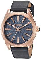 Diesel Ladies DZ5532 Nuki Rose Gold Blue Leather Watch
