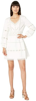 The Kooples Lace Detail Dress (White) Women's Clothing