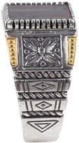 Konstantino 18K Gold/Silver Square Ferrite Ring, Size 10
