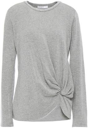Stateside Twisted Melange Fleece Top