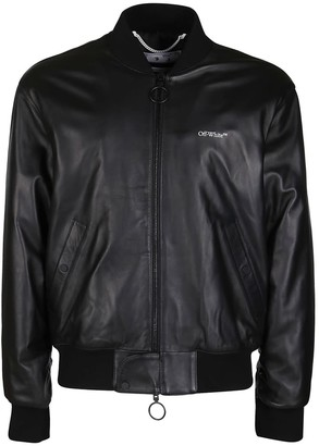 Off-White Agreement Leather Bomber