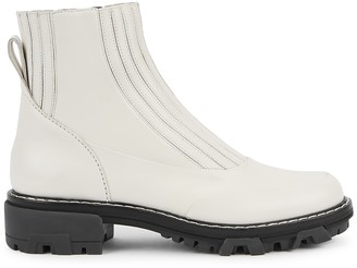 Rag & Bone Shawn 40 off-white leather Chelsea boots